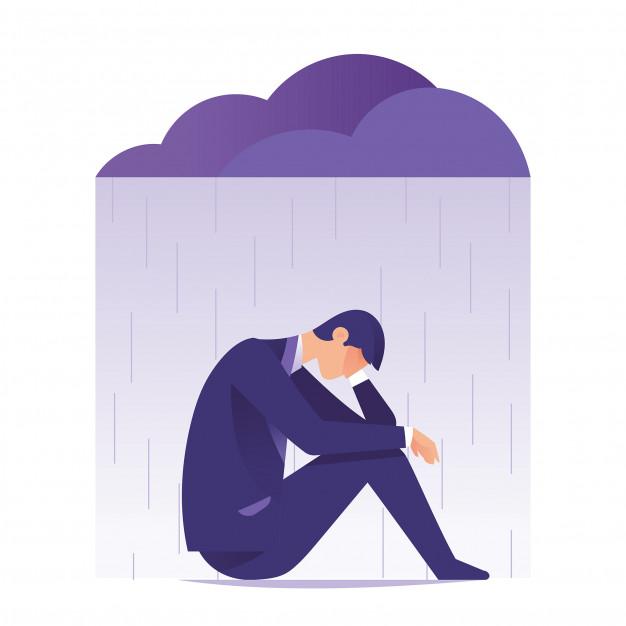 Ilustrasi perasaan sedih dan kecewa