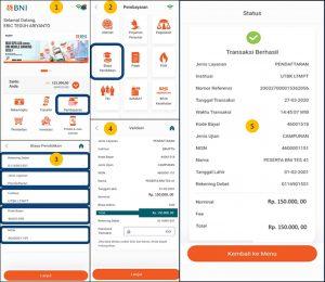 Bayar UTBK SBMPTN 2020 lewat Mobile Banking Bank BNI