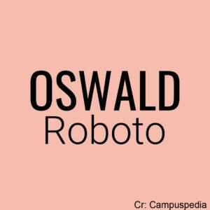 oswald - roboto