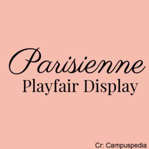 parisienne - playfair